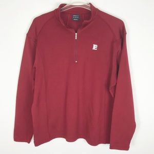 Nike Golf Pullover Half ZIP Red Mens Athletic XL